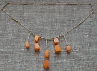 Genuine vintage natural baltic amber necklace pendant egg yolk butterscotch