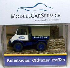 "Brekina Modèle spécial: MB Unimog u421 PICK-UP/Bâche ""Kulmbacher Mönchshof-Bières"""