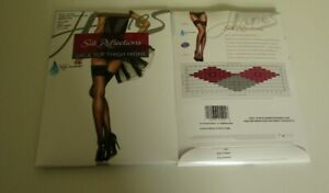 2 Pair Hanes Silk reflections Lace top Thigh High Stockings Size EF Barely There