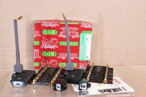 LGB 1056 G GAUGE 2 x ELECTRIC UNCOUPLING TRACK with SIGNAL SET MINT BOXED nz