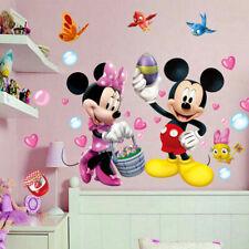 Disney Mickey Minnie Mouse Wall Sticker Vinyl Decals Kids Nursery Room Decor