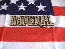 US Auto Car Emblem Schriftzug CHRYSLER IMPERIAL Schild gold Logo Typ CH USA