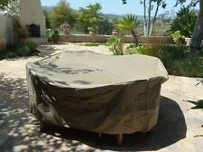 """Patio Set Cover 104""""Dia. Fits square, Oval or Round table set"""