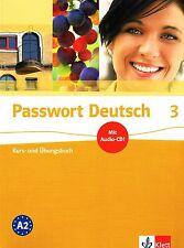 Klett PASSWORT DEUTSCH 3 Kurs- und Ubungsbuch mit Audio-CD und Losungen A2 @NEW@