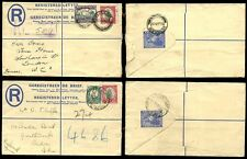 SOUTH AFRICA 1938 REGISTERED STATIONERY 4d + 3d + 1 1/2d to LONDON...2 ITEMS