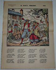 Imaging delhalt nancy xix-th century no. 309 it is raining bergere song rhyme