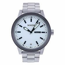 Reloj NIXON A263100 Para Hombre Esfera Blanca y Acero Original