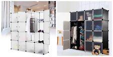 Interlocking Cube Plastic Storage Wardrobe Clothes Organizer Closet Cupboard