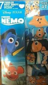 Disney Pixar Finding Nemo 7 Toddler Boys Briefs Size:4T