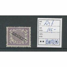 Ned. Indie D9f   Dienst kopstaande opdruk  MNH/postfris CV 165 €