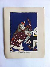 Pere Noel SANSTICKETS Dessin illustration HENRI MONIER & POL FERJAC HUMOUR 1942