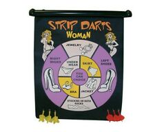 "16"" Magnetic Strip Dart Game Set 6 Darts 2 sided board Indoor Party Game New"