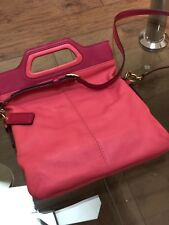 Preowned Coach bubble gum pink crossbody clutch bag