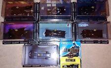 7 Die-Cast Eaglemoss Batmobiles #1,2,3,4,6,7,8, +Bonus Ertl 1989