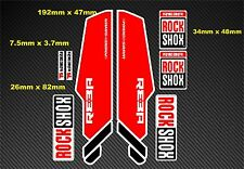 Rock Shox Reba style fourche à suspension autocollant/stickers rx03