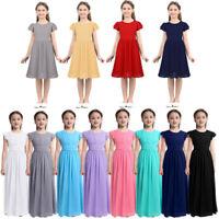 Flower Girl Dress Kids Party Wedding Bridesmaid Prom Gown Princess Formal Dress