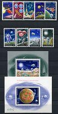 133/ Space Raumfahrt 1972 Rumänien Romania Apollo 3069-77 Block 102-103 MNH