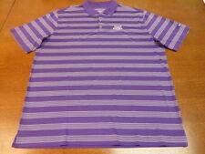 Purple White Nike Golf Tour Performance DriFit AT&T National Tournament Polo ATT