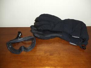 Black Diamond XL Gortex GTX Snowmobile / Ski Gloves & Sellstrom Z87 Goggles NWOT