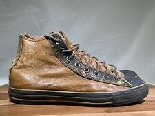 John Varvatos Converse Chuck Taylor brown leather hi top sneakers trainers 8.5