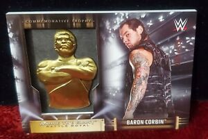 2019 Topps Andre The Giant Commemorative Trophy Card Baron Corbin 036/199