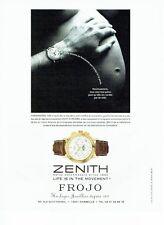 PUBLICITE ADVERTISING 126  1999  montre Zenith  El primero  chronomaster