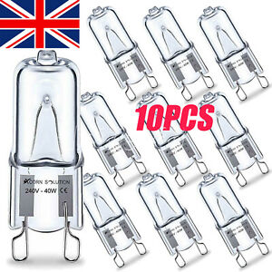 10PCS G9 Halogen Bulbs ECO 60W 40W 25W Clear Capsule Replaces Warm White For G9