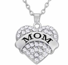 Crystal Silver Plated Family & Friends Costume Necklaces & Pendants