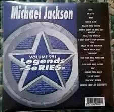 LEGENDS KARAOKE CDG MICHAEL JACKSON R&B SOUL OLDIES 1980'S #221 18 SONGS CD+G