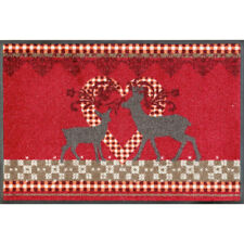 Waschbare Fu�Ÿmatte Lovely Deers - Hirsche ca 50x75 cm Wash+Dry Fu�Ÿabstreifer