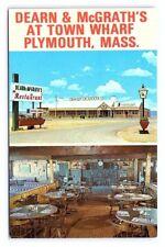 Vintage Postcard Dearn and McGrath's Wharf Restaurant Plymouth Massachusetts