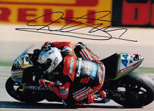 David Salom Hand Signed Kawasaki 7x5 Photo WSBK 1.