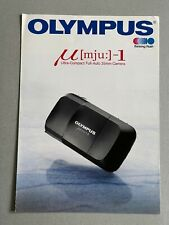 Olympus mju 1 35mm Film  Camera, A4 Paper Brochure, 4 Page Fold Out
