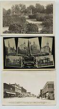 4 Harmony Minnesota Real Photo Postcards & 1 printed RPPC