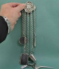 antique Victorian Silver Chatelaine Lund 57 Cornhill London Jane Brownett 1879