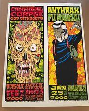 Forbes Anthrax Cannibal Corpse Uncut Proof unsigned Cincinnati 2000 Silkscreen