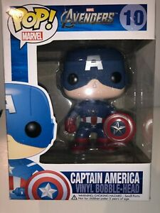 Funko Pop Vinyl Captain America 10 Marvel Avengers Rare/Vaulted still in box
