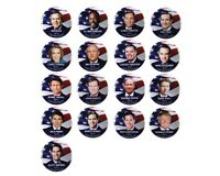 "2016 REPUBLICAN PRESIDENTIAL CANDIDATES 1.5"" CAMPAIGN BUTTON SET, 17 pieces"