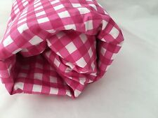 Magenta Pink Twin Fitted Sheet Gingham Check Cotton Percle Company Store Bright