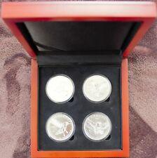 1 Oz. Silber Kanada, 'Birds of Prey', Komplettserie ,4 x 1 Oz., in Schatulle