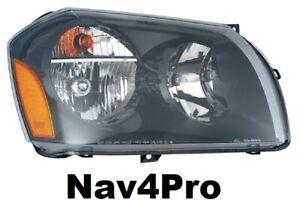 NEW 2005 - 2007 Dodge Magnum Right Passenger Black OE Style Headlight Lamp