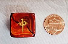 *ONE* ~ 20mm MAHJONG WIND DIRECTION DIE w/CHINESE SYMBOLS - SCARAB SCARLET! MY!