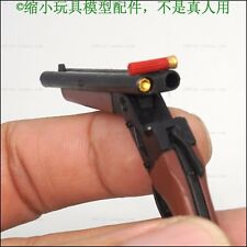 "1:6 Scale Black double tube shotguns + bullets Weapon gun Model For 12"" Figure"