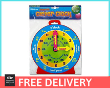 Kids / Children's Learn to Tell the Time Teaching Clock, Magnetic Play Clock