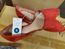 A New Day Women's Shoes, Size 9 Red flats , dress slip ons