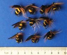 10 Pcs Foam Bee Nymph Trout Flies Fly fishing Hook 10# D157