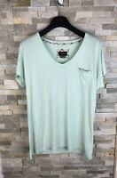 Barbour Ladies Size 14 UK Mint Light Green T Shirt Top