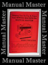 Models VX807 & VX810 Jones Brother  sewing machine instruction Manual Booklet