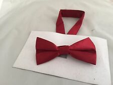 Brick Red Polyester BOYS Ready Pre-tied Bow tie > 60 Colours Available in Shop