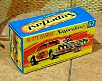 MATCHBOX SUPERFAST NO.62B RAT ROD DRAGSTER CUSTOM DISPLAY/STORAGE BOX ONLY